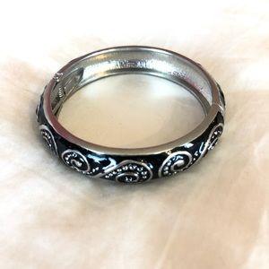 Black and Silver Metal Bracelet
